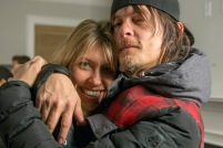 Denise Huth and Norman Reedus - The Walking Dead _ Season 5, Episode 16 _ BTS - Photo Credit: Gene Page/AMC