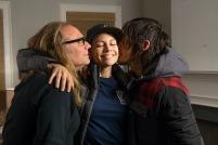 Greg Nicotero, Lauren Cohan and Norman Reedus - The Walking Dead _ Season 5, Episode 16 _ BTS - Photo Credit: Gene Page/AMC