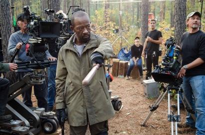 Lennie James - The Walking Dead _ Season 5, Episode 16 _ BTS - Photo Credit: Gene Page/AMC