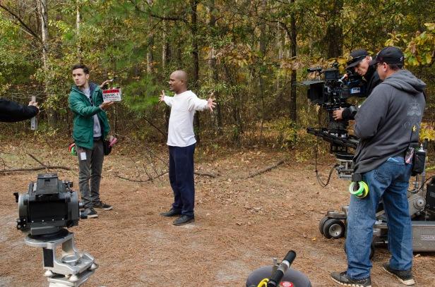 Seth Gilliam as Father Gabriel- The Walking Dead _ Season 5, Episode 16 _ BTS - Photo Credit: Gene Page/AMC