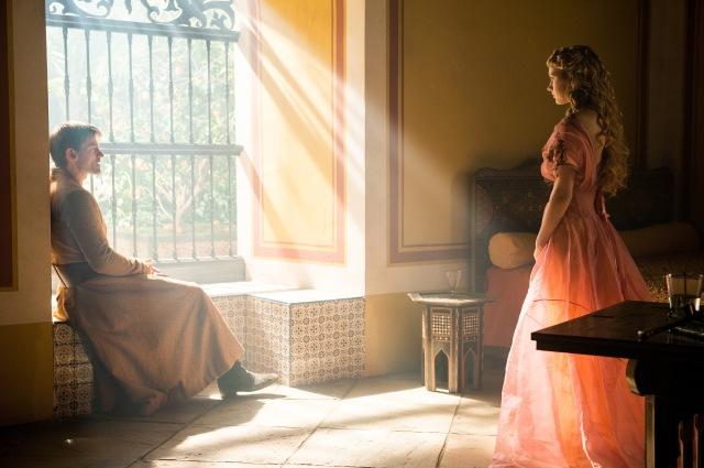 Pictured: Nikolaj Coster-Waldau as Jaime Lannister, Nell Tiger Free as Myrcella Baratheon. Photographer: Helen Sloan/HBO