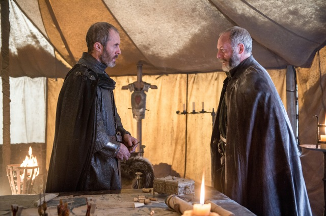 Pictured: Stephen Dillane as Stannis Baratheon, Liam Cunningham as Davos Seaworth. Photographer: Helen Sloan/HBO