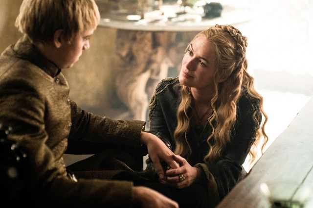 Pictured: Dean-Charles Chapman as King Tommen Baratheon, Lena Headey as Cersei Lannister. Photographer: Helen Sloan/HBO