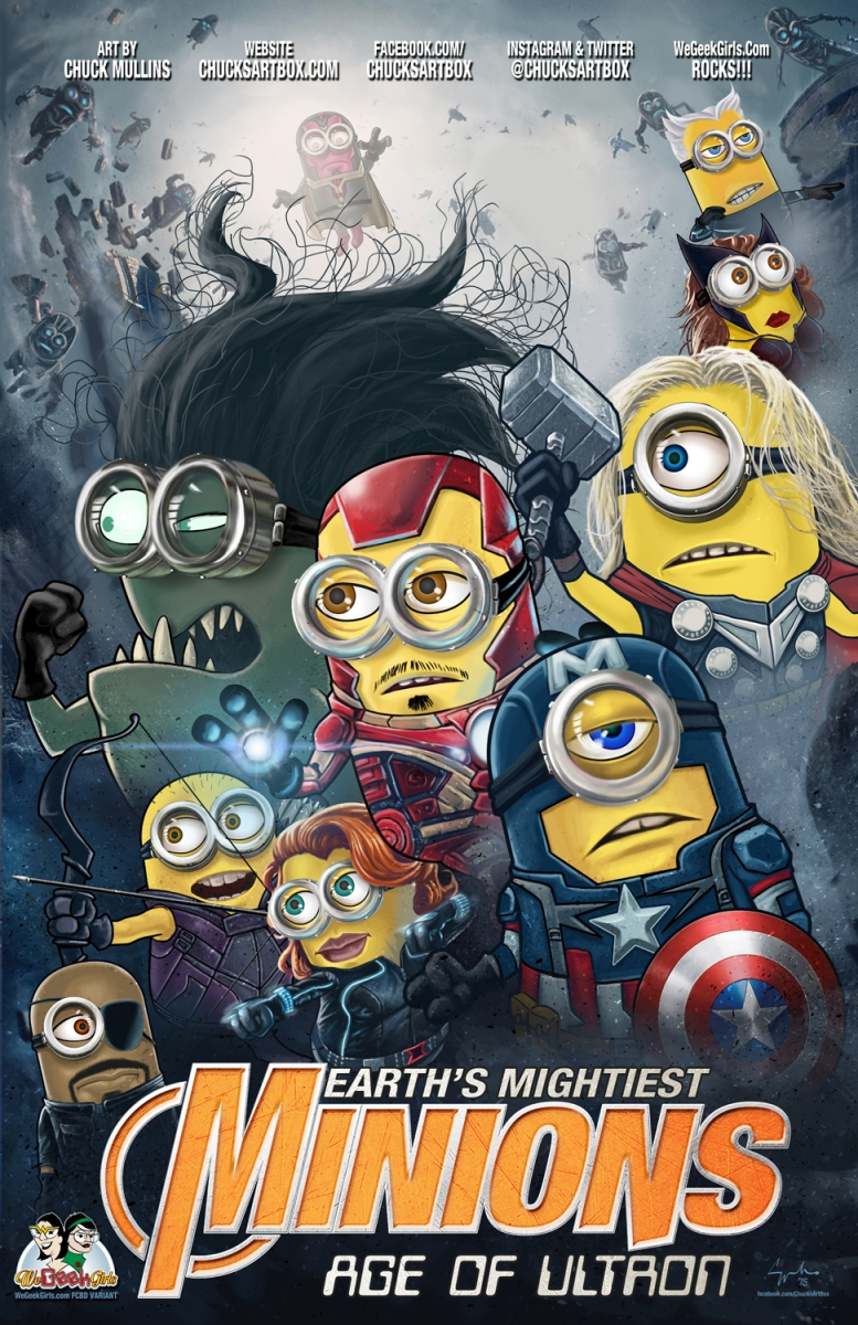 Minion Avengers Movie Poster 02 Wgg Email We Geek Girls