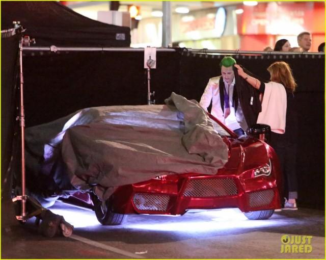 Suicide Squad_Set Photo_Joker's Lamborghini (3)