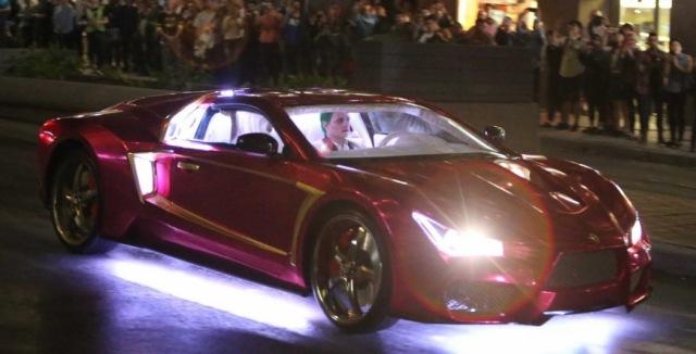 Suicide Squad_Set Photo_Joker's Lamborghini