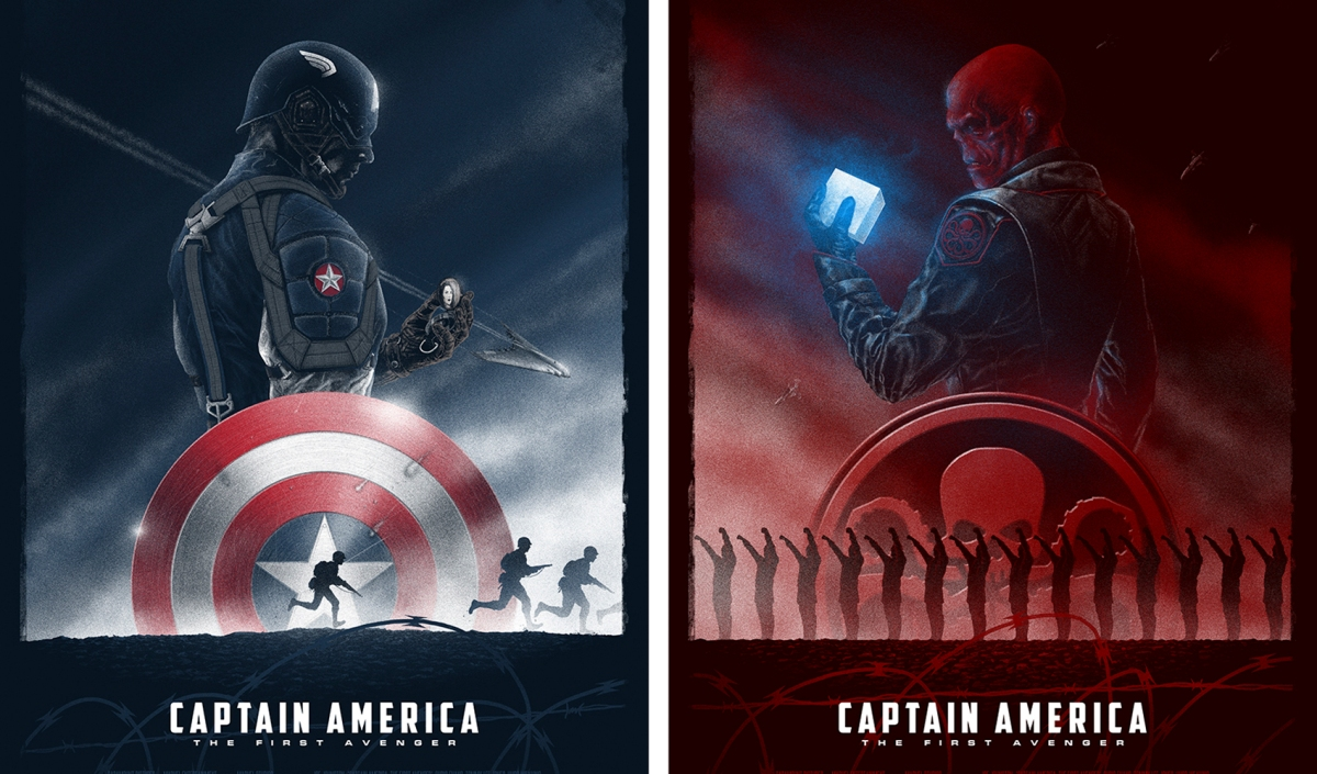 Geek Art Captain America The First Avenger By Marko Manev