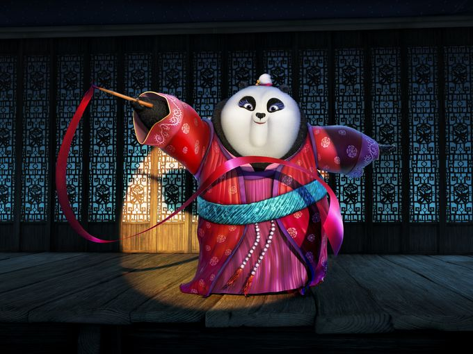 """Mei Mei, voiced by Rebel Wilson, makes a powerful appearance in 'Kung Fu Panda 3.' Says Black, """"She's super into ribbon dancing and a funny, creative panda."""" (Photo: DreamWorks Animation)"""