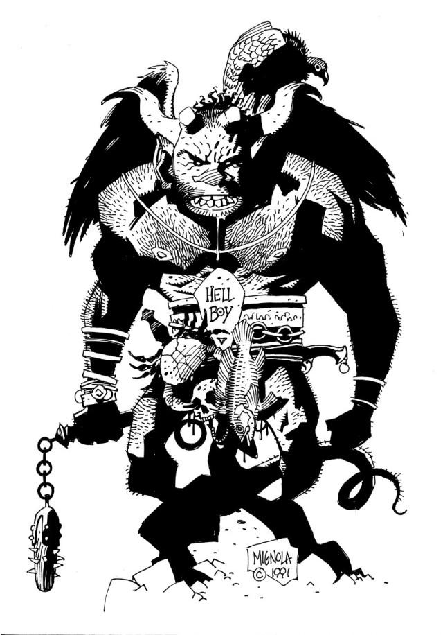 Mondo SDCC Exclusive_Hellboy Statue2