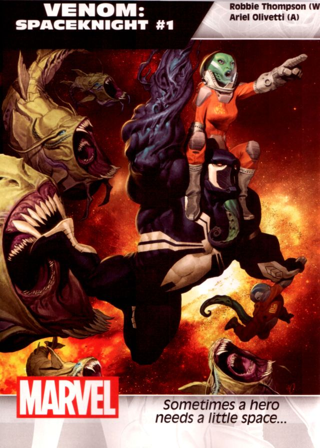 Venom: Spaceknight #1 W: Robbie Thompson A: Ariel Olivetti