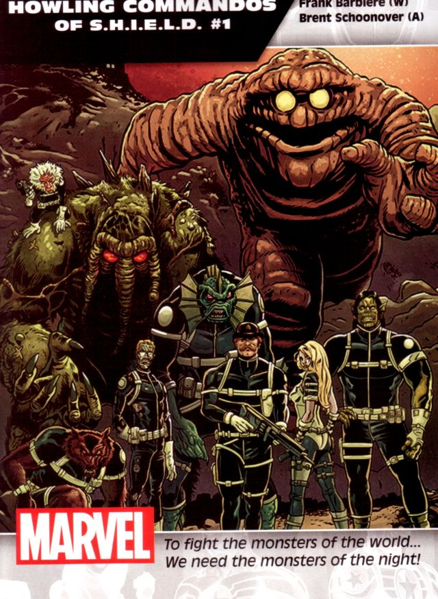 Howling Commandos of S.H.I.E.L.D. #1 W: Frank Barbiere A: Brent Schoonover
