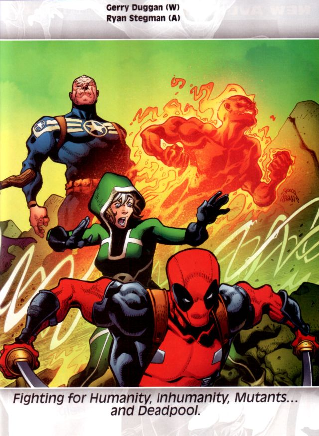 "Uncanny Avengers #1 W: Gerry Duggan A: Ryan Stegman ""Fighting for Humanity, Inhumanity, Mutants…and Deadpool"""