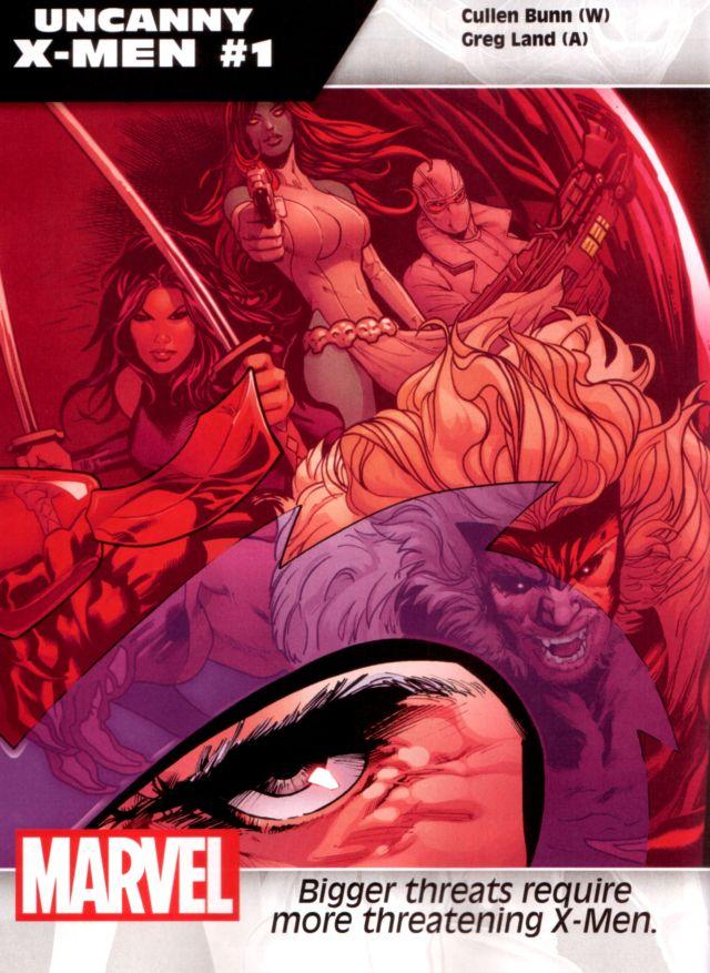 Uncanny X-Men #1 W: Cullen Bunn A: Greg Land