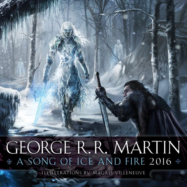 2016 A Song of Ice and Fire Calendar by Magali Villeneuve (3)