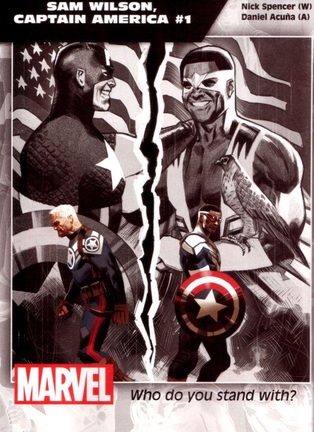 Sam Wilson, Captain America #1 W: Nick Spencer A: Daniel Acuña