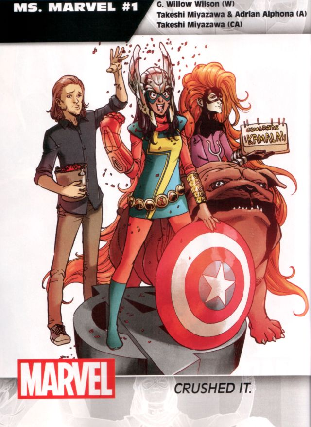 Ms. Marvel #1 W: G. Willow Wilson A: Takeshi Miyazawa & Adrian Alphona CA: Takeshi Miyazawa