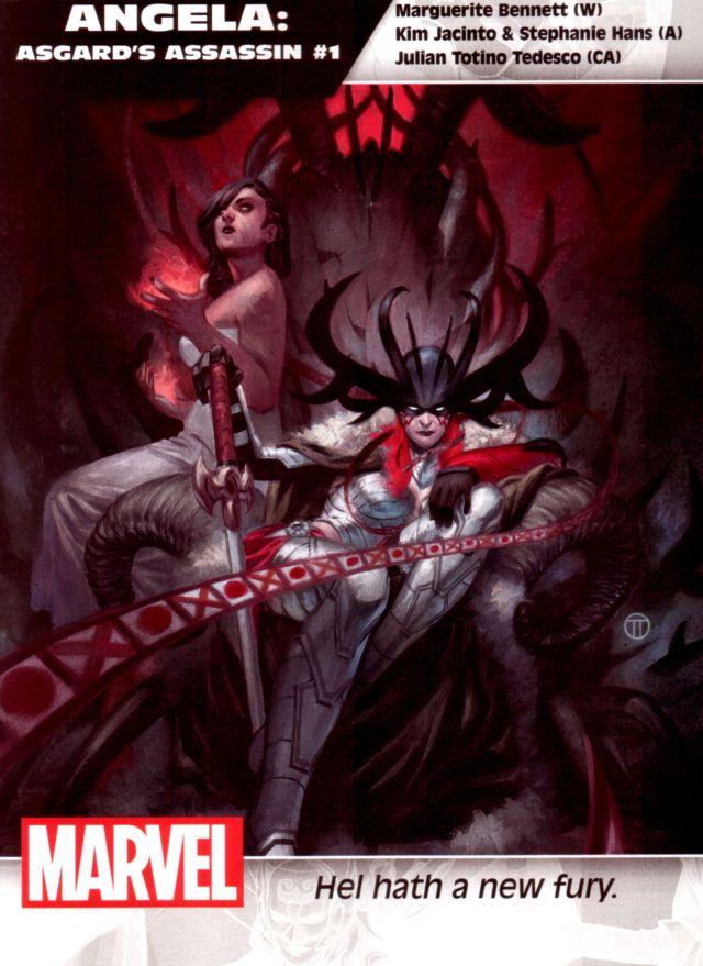 Angela: Asgard's Assassin #1 W: Marguerite Bennett A: Kim Jacinto & Stephanie Hans CA: Julian Totino Tedesco