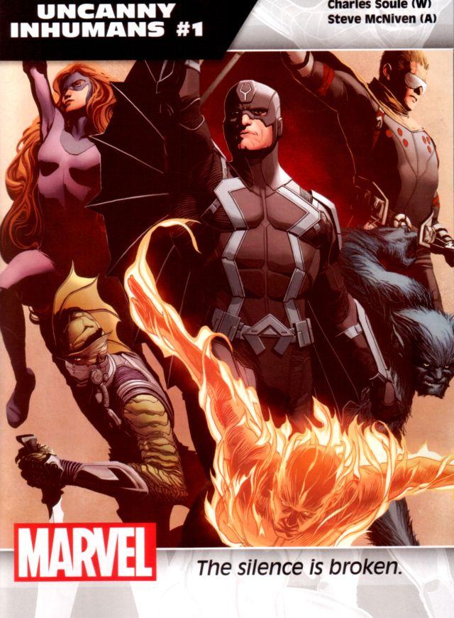 Uncanny Inhumans #1 W: Charles Soule A: Steve McNiven