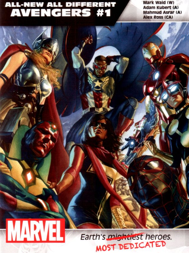 All-New All-Different Avengers #1 W: Mark Waid A: Adam Kubert, Mahmud Asrar CA: Alex Ross