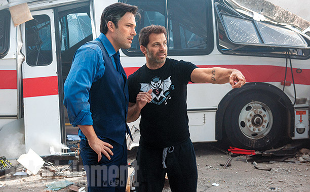 BatmanvSuperman_EW_Zack Snyder and Ben Affleck