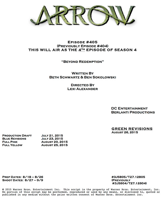Arrow_Season 4_Episode 5_Title and Credit