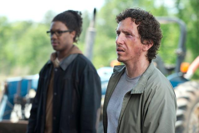 Corey Hawkins as Heath and Michael Traynor as Nicholas - The Walking Dead _ Season 6, Episode 1 - Photo Credit: Gene Page/AMC