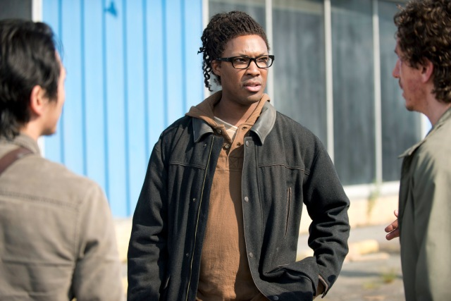 Corey Hawkins as Heath - The Walking Dead _ Season 6, Episode 1 - Photo Credit: Gene Page/AMC