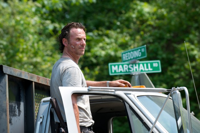 Andrew Lincoln as Rick Grimes - The Walking Dead _ Season 6, Episode 1 - Photo Credit: Gene Page/AMC