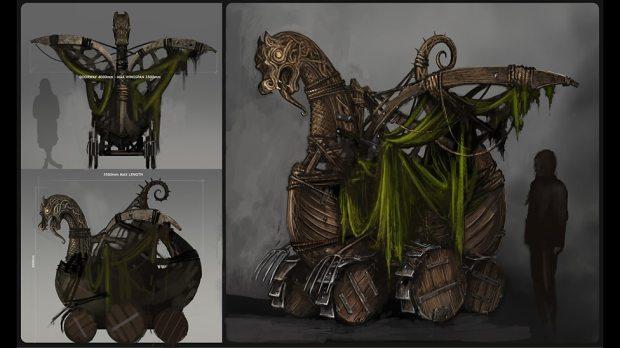 Concept art: Ashildr's 'monstrosity'.
