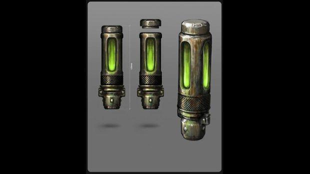 Concept art: Mire vials.