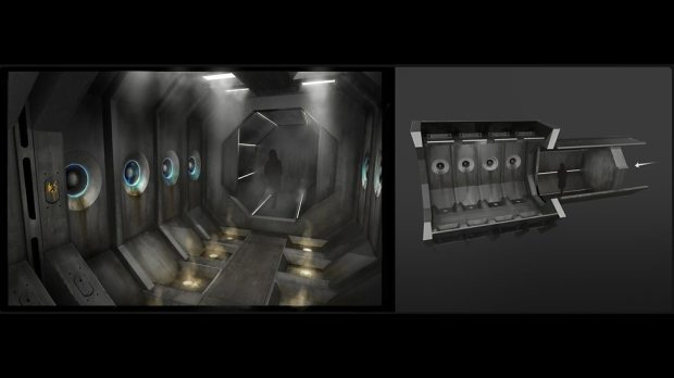 Concept art: Mire processing chamber.