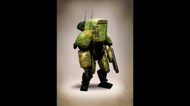 Concept art: Mire armour.