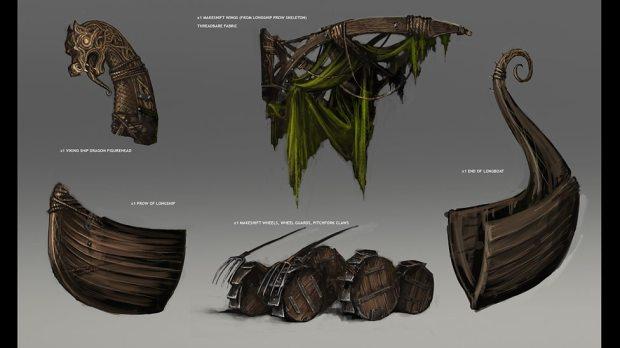 Concept art: parts for Ashildr's 'monstrosity'.