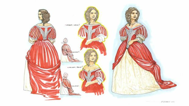 Concept art – Lady Me's dress.