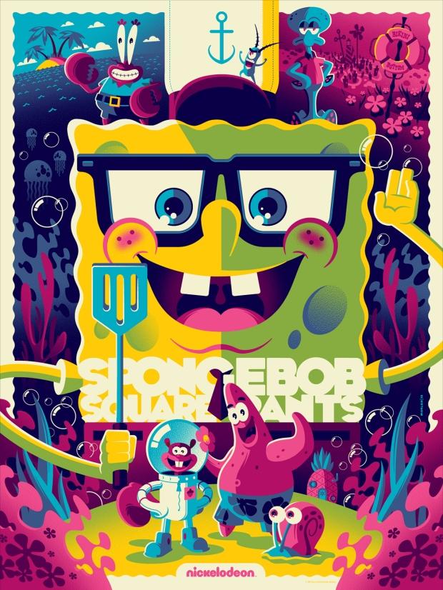 Spongebob Squarepants (Variant) by Tom Whalen