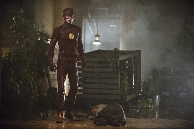 "The Flash -- ""Flash of Two Worlds"" -- Image FLA202A_0063b -- Pictured (L-R): Grant Gustin as the Flash and Shantel VanSanten as Patty Spivot -- Photo: Cate Cameron/The CW -- © 2015 The CW Network, LLC. All rights reserved."
