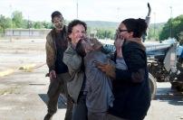 Michael Traynor as Nicholas and Corey Hawkins as Heath - The Walking Dead _ Season 6, Episode 1 - Photo Credit: Gene Page/AMC
