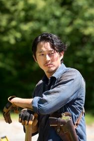 Steven Yeun as Glenn Rhee - The Walking Dead _ Season 6, Episode 1 - Photo Credit: Gene Page/AMC