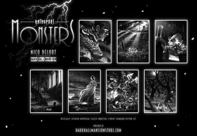 Universal Classic Monsters_By Nicolas Delort