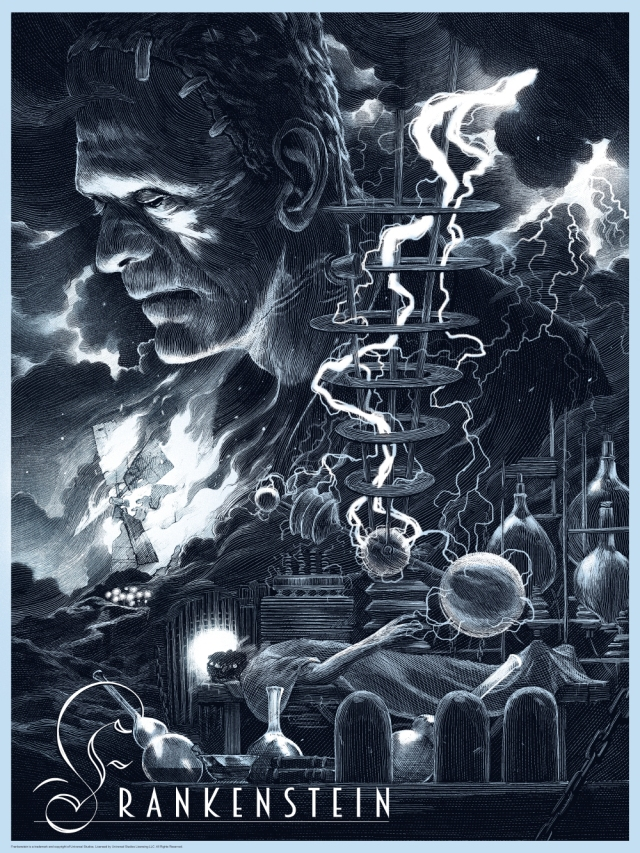 Universal Classic Monsters_Frankenstein_Variant_By Nicolas Delort