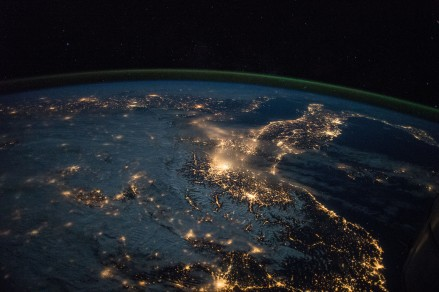 (March 28, 2015) --- Earth observation taken during a night pass of Spain and Italy by the Expedition 43 crew aboard the International Space Station.