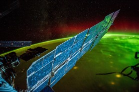 (September 13, 2014) --- Night Earth Observations of aurora taken by Expedition 41 crew member Alex Gerst.