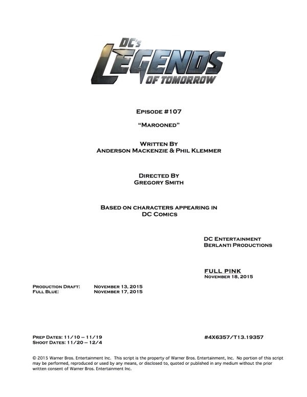 DC's Legends of Tomorrow_Season 1_Episode 7_Title and Credt