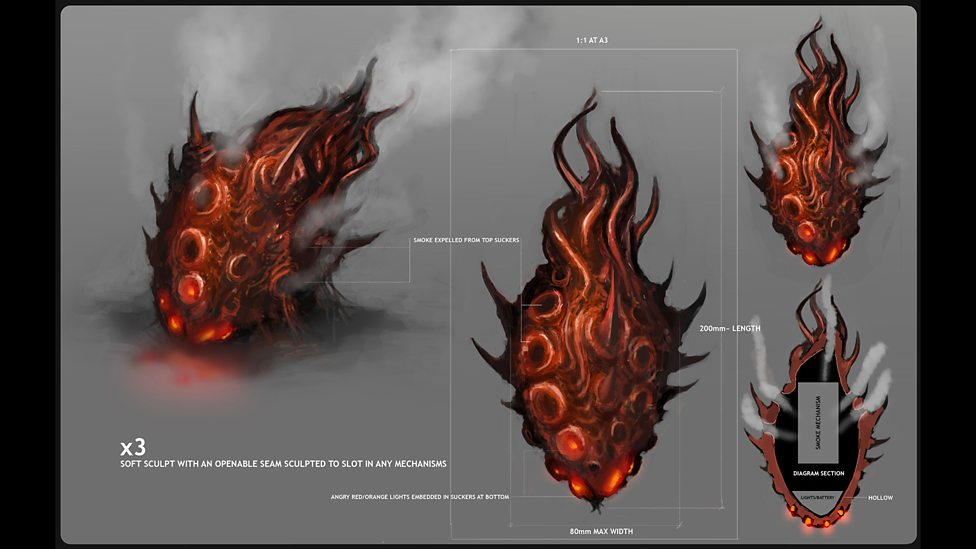 Concept art – Zygon smoke grenade.