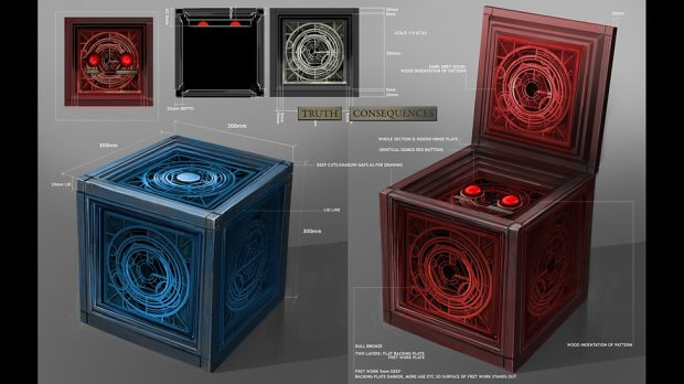 Concept art – The Osgood boxes.