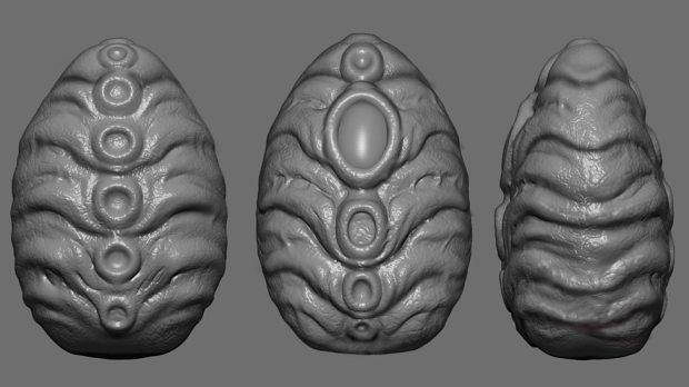 Concept art – Zygon eggs.