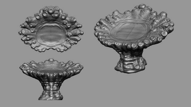 Concept art – Zygon table.