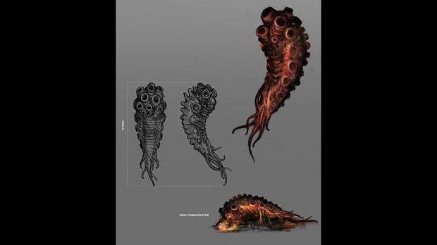 Concept art – Zygon communicator.