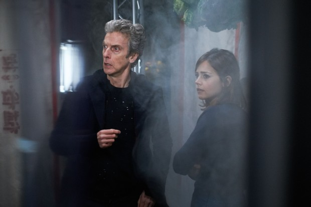Picture shows: Jenna Coleman as Clara and Peter Capaldi as the Doctor