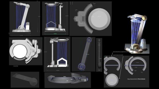 Concept art – the Infirmary stasis pod.